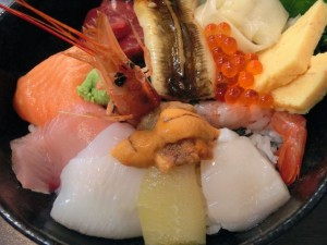 Bowl of sashimi