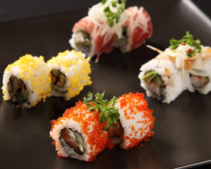 Various sushi roll