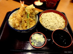 All star tendon and soba set 930yen